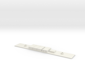 Chasis B S5000 Metro Madrid Underground 1:160 in White Natural Versatile Plastic
