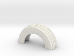 1/32 Slot Car Half Tire boundry ~ Scenery in White Natural Versatile Plastic