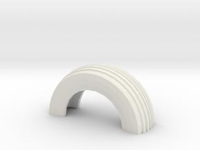 1/32 Slot Car Half Tire boundry ~ Scenery in White Natural Versatile Plastic