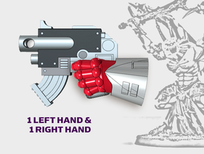 2x Warp Bolter 2 - Demon Lord Weapons (L&R) in Smooth Fine Detail Plastic
