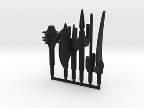 Dinoforce Melee Weapons in Black Natural Versatile Plastic: Small