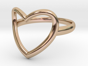 Open Heart Ring in 14k Rose Gold Plated Brass: 7 / 54