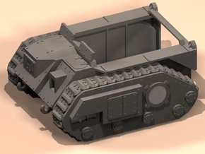 28mm armored towing vehicle in White Processed Versatile Plastic
