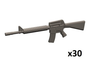 1/35 M16A2 rifles in Smoothest Fine Detail Plastic