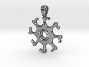 Eight headed eagle [pendant] in Polished Silver