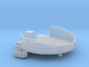 1/96 USN midship 4st deck 40mm gun tub port in Smooth Fine Detail Plastic
