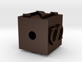 123DDesignDesktop in Matte Bronze Steel