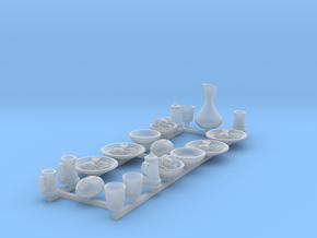 Feastware Set A: Plates with food for 1/48 scale in Smooth Fine Detail Plastic
