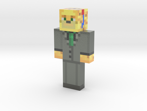 Party_Ocelot | Minecraft toy in Glossy Full Color Sandstone