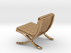 "Mies-Van-Barcelona-Chair - 1/2"" Model in Polished Brass"
