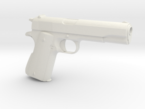 1/4 Scale Government Issue Colt 1911 in White Natural Versatile Plastic