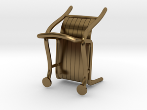 """ThinkingMan Chair - 1/4"""" Model in Polished Bronze: 1:48 - O"""