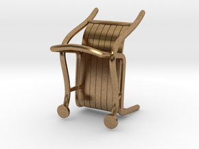 """ThinkingMan Chair - 1/4"""" Model in Natural Brass: 1:48 - O"""