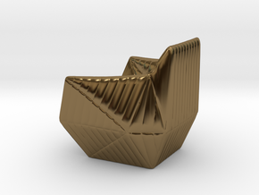 """Facett-chair  - 1/2"""" Model in Polished Bronze: 1:24"""