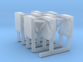 Ticket Turnstile 1:87 HO Scale (x8) in Smooth Fine Detail Plastic