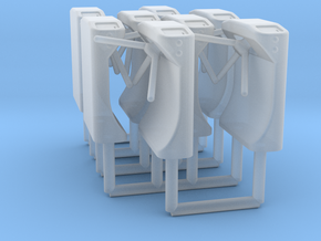Ticket Turnstile 1:48 O Scale (x8) in Smooth Fine Detail Plastic