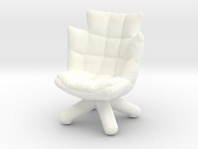 "Husk  - 1/2"" Mode in White Processed Versatile Plastic"