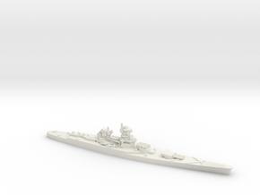 French Battleship Jean Bart in White Natural Versatile Plastic: 1:1800