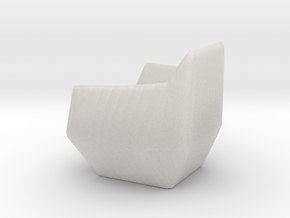 """Facett-chair  - 1/2"""" Model in Smooth Fine Detail Plastic: 1:24"""