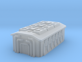 6mm scale Sci-fi Generator Building in Smooth Fine Detail Plastic
