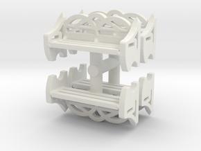 Park Bench (x4) 1/100 in White Natural Versatile Plastic