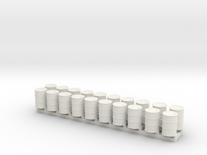 15mm 55gal Drums 10pc in White Natural Versatile Plastic