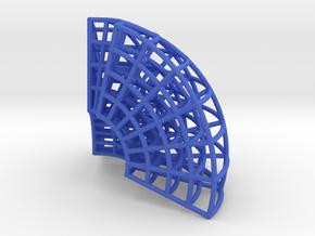 Spherical Coordinates Box in Blue Processed Versatile Plastic