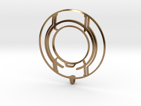 TRON: Legacy Identity Disk - Negative Space in Natural Brass