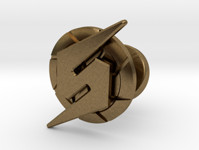 Metroid Symbol Cufflink in Natural Bronze