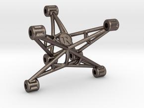 AE ProSC10 DB10 DR10 Wheelie Bar Mount - Steel in Polished Bronzed-Silver Steel
