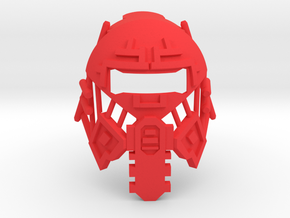 The Mask of Emulation  in Red Processed Versatile Plastic