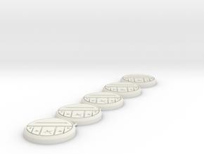 Dairanger Badge LC 5x in White Natural Versatile Plastic
