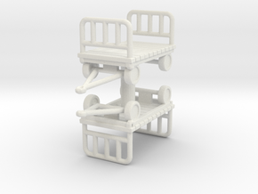 Luggage Cart (x2) 1/87 in White Natural Versatile Plastic