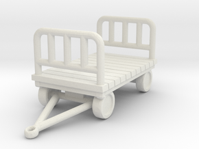 Luggage Cart 1/56 in White Natural Versatile Plastic