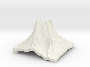 Mountain 2 in White Natural Versatile Plastic: Small