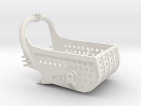 dragline bucket 8cuyd, with holes - scale 1/50 in White Natural Versatile Plastic