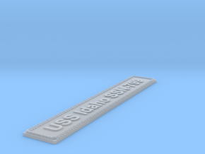 Nameplate USS Idaho SSN-799 in Smoothest Fine Detail Plastic