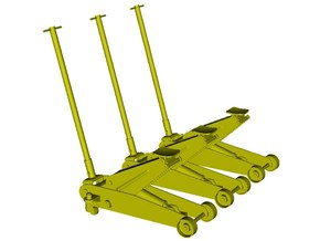 1/35 scale hydraulic car jacks x 3 in Smoothest Fine Detail Plastic