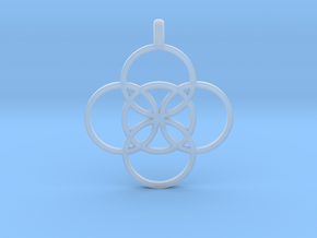 FIVE FOLD Symbol Jewelry Pendant in Smooth Fine Detail Plastic