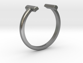 T-Ring in Natural Silver