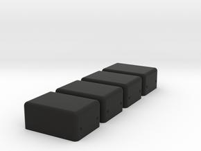 8mm X 12mm Soberton Speaker Enclosure 4PK in Black Natural Versatile Plastic