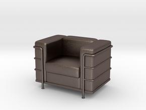 Le-Corbu-Sofa-Mini-03 in Polished Bronzed Silver Steel