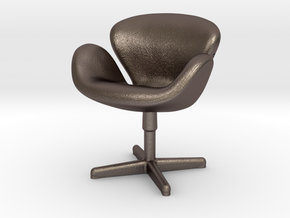Arne Jabobson - Swan Chair in Polished Bronzed Silver Steel