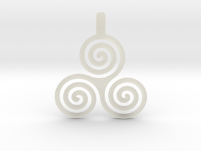 TRIPLE SPIRAL Minimal Symbol Jewelry Pendant  in Transparent Acrylic