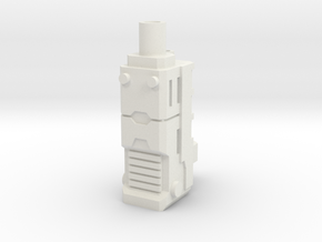 TF CW Stunticon Car Cannon Adapter in White Natural Versatile Plastic