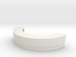 Reception Desk 1/87 in White Natural Versatile Plastic