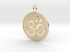 Om Medal in 14K Yellow Gold