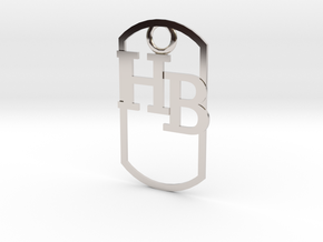 HB dog tag -- Hagerman Bobcats! in Platinum