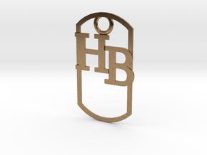 HB dog tag -- Hagerman Bobcats! in Natural Brass