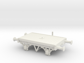 OO/HO Scale LBSCR 15' Bolster wagon (Dia. 1616) in White Natural Versatile Plastic: 1:76 - OO